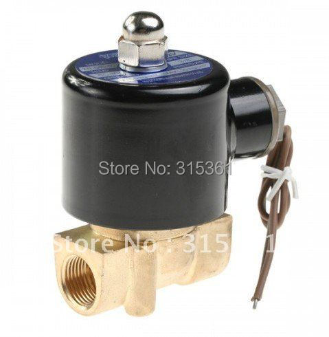Free Shipping 5pcs/lot 12VDC 2W Series 1/8 Electromagnetic DC Solenoid Valve for Train Water Air Pipeline 2W025-06