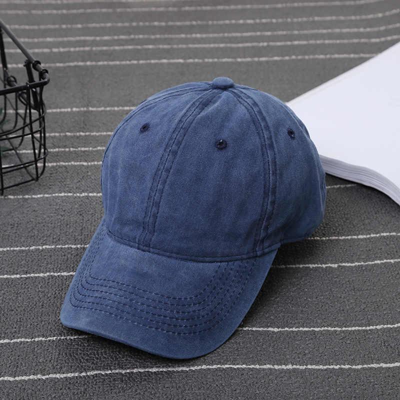 7da7a996760e8 ... Solid Summer Fall Baseball Cap for Men Women Wash ICON Cotton Dad Hat  Trucker Snapback Caps ...