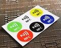 6 unids/lote Impermeable 6 Colores Pegatinas NFC Inteligentes Etiquetas Adhesivas Ntag213 Compatible con Todos Los Teléfonos