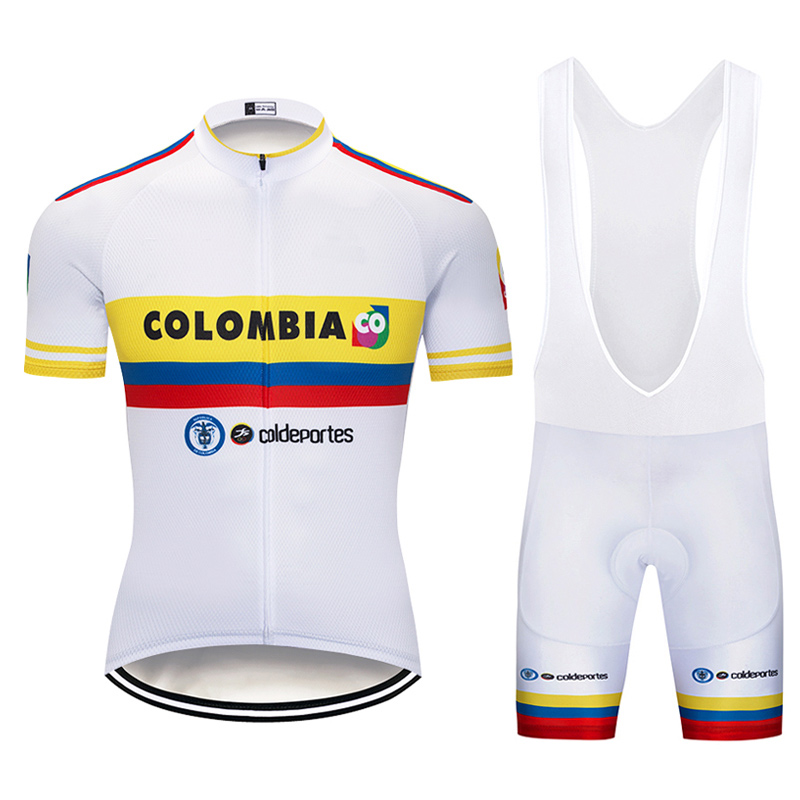 2019 Colombia Cycling Jersey mountain Bike Wear clothing Short Sets MTB Ropa Ciclismo Bicicletas Uniform Maillot Culotte suit