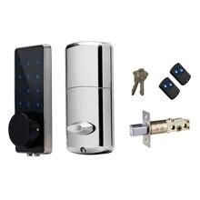 Electronic Door Lock Digital Smart Door Lock Small Code Password keypad Safe Deadbolt Door Lock with 2 Remotes Control and Keys
