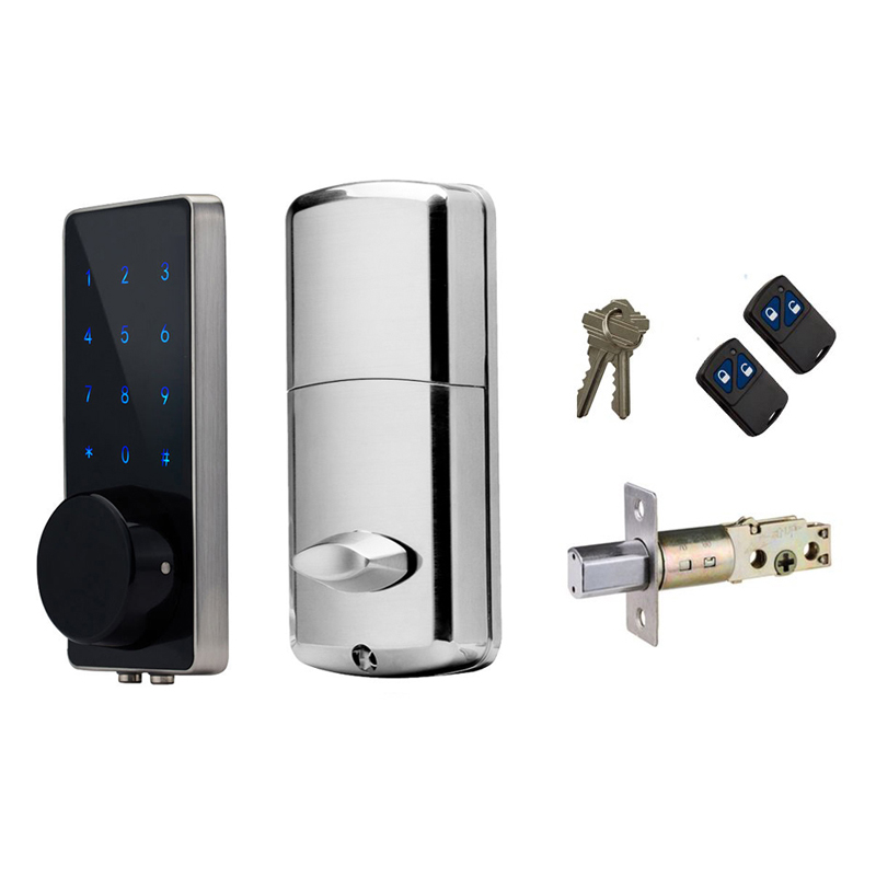 Electronic Door Lock Small Code Password keypad Deadbolt Door Lock with 2 Remotes and Keys t handle vending machine pop up tubular cylinder lock w 3 keys vendo vending machine lock serving coffee drink and so on