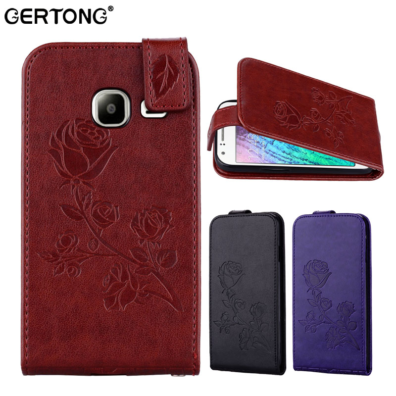 Luxury Flip PU Leather Cover Case For Samsung Galaxy J1 mini 2016 SM-J105B SM-J105H Vertical Magnetic Back Cover Cases