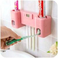 Automatique presse-pâte dentifrice distributeur 5 trou dent titulaire porte-brosse avec électronique montre pour salle de bains ensembles
