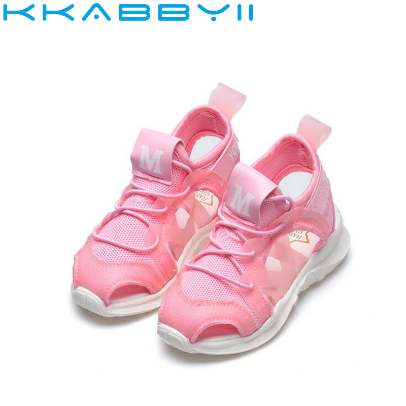 Summer Boy Sandals Soft Bottom Hook & Loop Childrens Beach Shoes Super Light Girls Beach Sandals Baby Flat Shoes