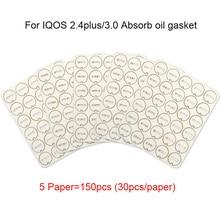 150 шт 5 бумажных аксессуаров для ремонта, инструмент для очистки, маленький кусочек, прокладка для очистки для IQOS 2,4 Plus, впитывающая масляная прокладка для IQOS 3,0