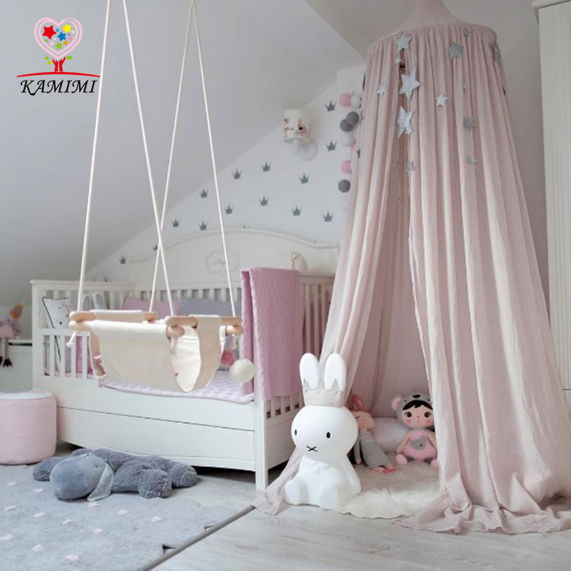 Baby Bed Curtain KAMIMI Children Room Decoration Crib Netting Baby Tent Cotton Hung Dome Baby Mosquito Net Photography Props|crib Net|baby Mosquito Netbaby Mosquito - AliExpress