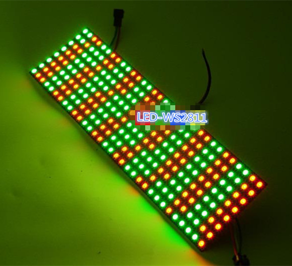 colorful led 8*32 Full color WS2812B WS2812 5050 RGB SMD Flexible LED Pixel Panel Light DC5V use for make signs 5050 rgb ws2812 full color display board dc5v 8 8 16 16 8 32 64 256 leds addressable flexible pixel panel screen
