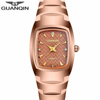 Free Shipping GUANQIN Brand Lovers Watch Tungsten Steel Waterproof Women S And Men S Quartz Table