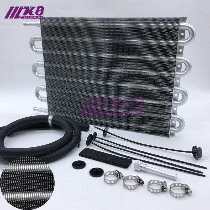 Enfriador de aceite de transmisión remoto de aluminio con envío gratis/convertidor de radiador AUTO-MANUAL UNIVERSAL de 8 filas
