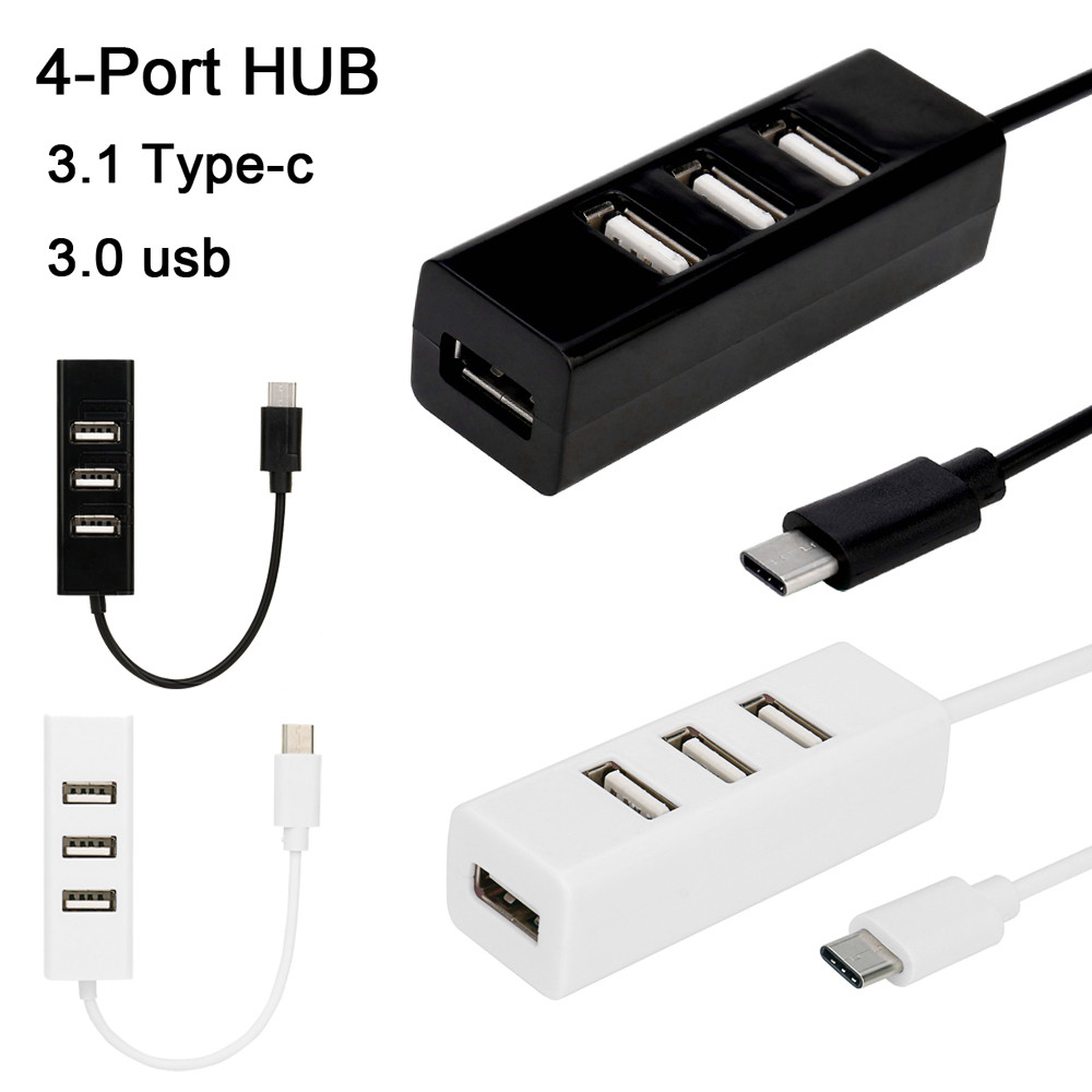 carprie type c to 4 port usb 3 0 hub usb 3 1 adapter for. Black Bedroom Furniture Sets. Home Design Ideas