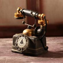 Статуэтка Декор модель для дома украшение стола праздничные подарки Ретро модели телефона фотографии реквизит статуя художника антикварный телефон