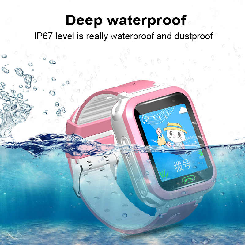Smart Watch Camera SIM Call Phone Wrist Watch SOS Swimming Waterproof Wristwatch for Kids Security Anti-lost Positioning Watchs