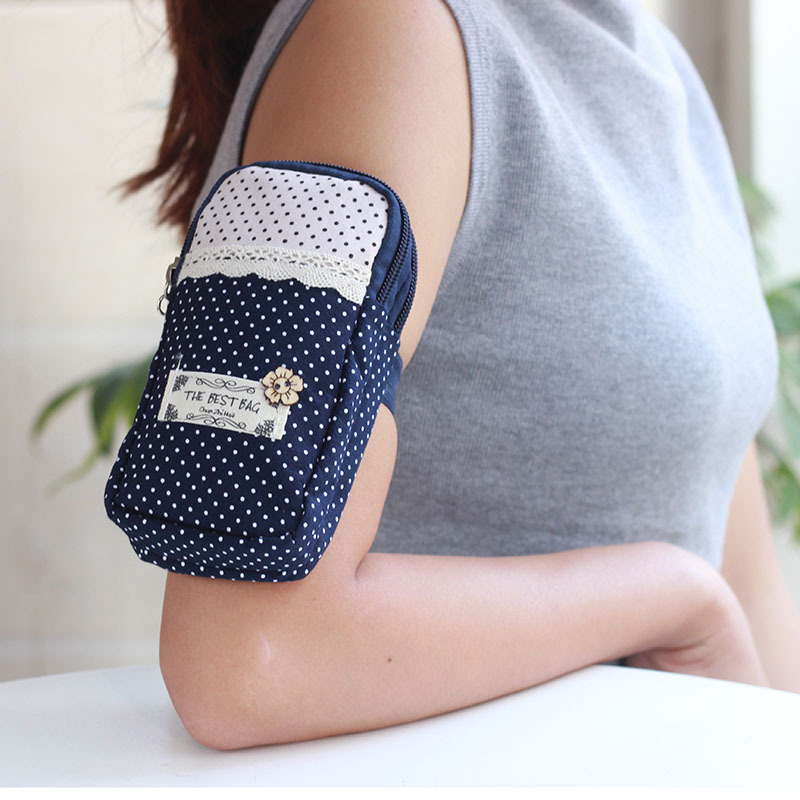 Garden Cloth Multifunctional Arm Bag L Size For iPhone Samsung S8 Mobile Phone Armbands & Cell Phone Sport Bag