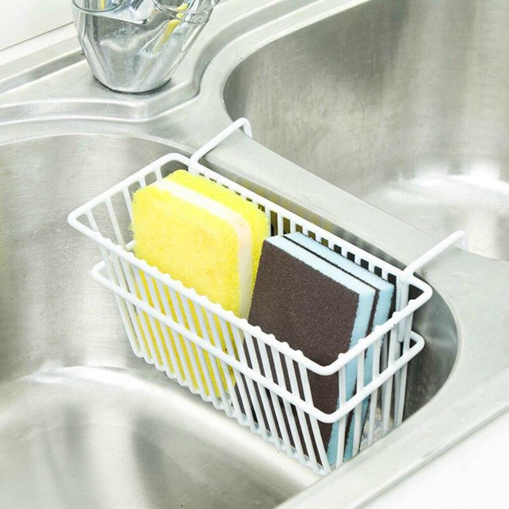 Экологичная Удобная стойка для хранения, стойка для кухонной раковины, держатель для слива губки и мыла, подвесная полка для ванной