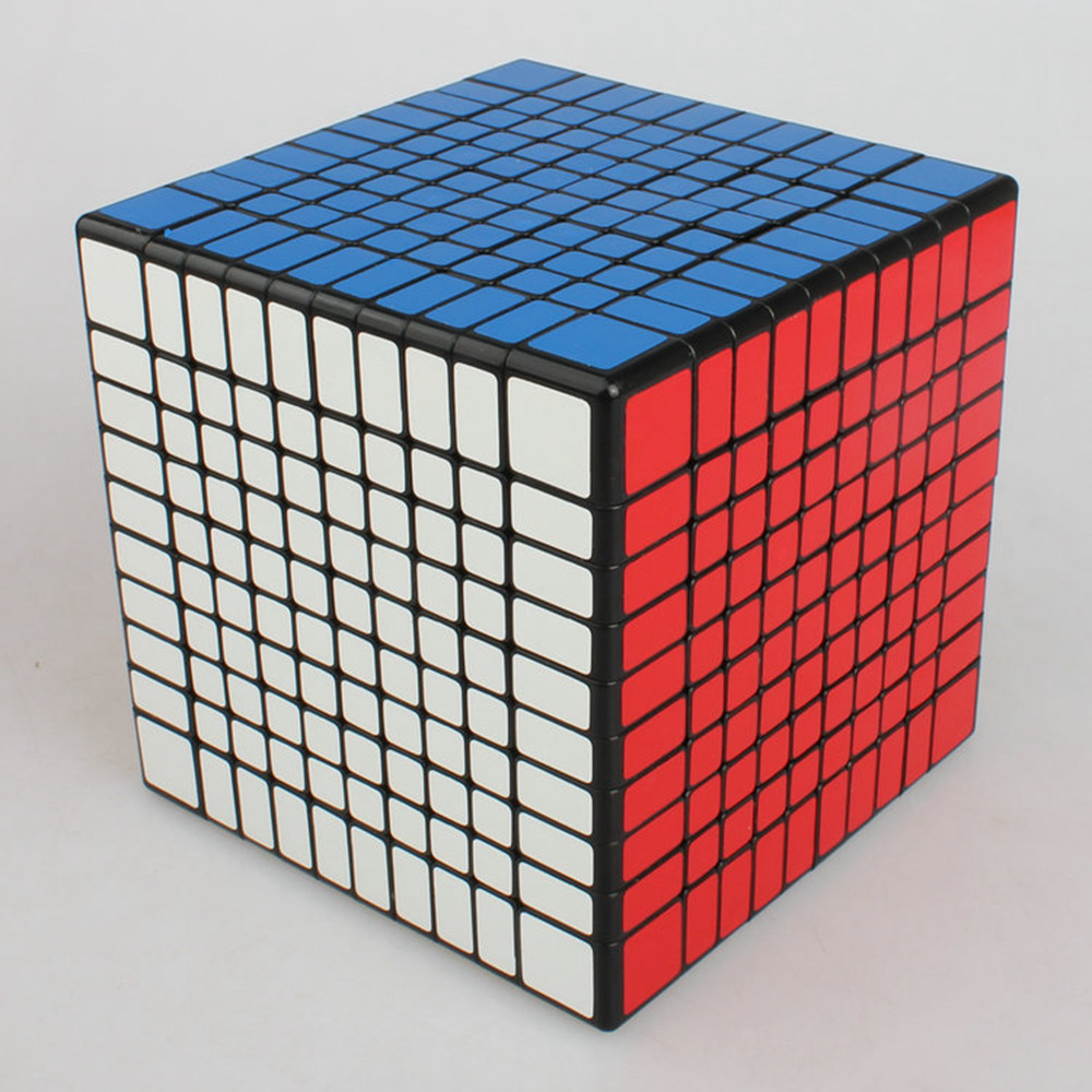 Brand New Shengshou 102mm Plastic Speed Puzzle 10x10x10 Magic Cube Educational Toys For Children Kids Baby brand new black mf8 9x9 petaminx magic cube speed puzzle cubes educational toys for kids children