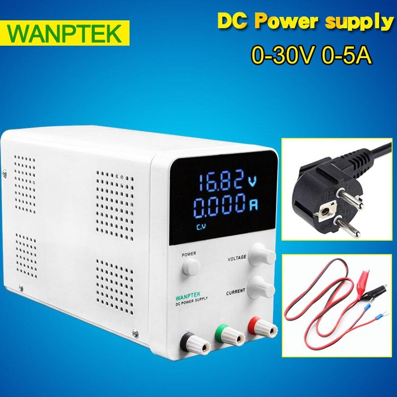 Mini laboratorio alimentación 30 V 5A monofásico ajustable regulador de voltaje Digital 0,01 V 0.001A alimentación DC