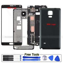 Original Phone Full Housing Frame Bezel Cover Case shell For Samsung Galaxy Note 4 N910 N9100