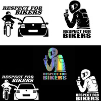 3D Respect for Cyclists Waterproof Reflective Biker Motorcycle Car Auto Accessoires Sticker Decal Funny JDM Vinyl On Car styling