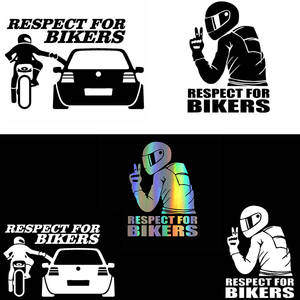 Sticker Decal Accessoires Cyclists Vinyl Biker Motorcycle Reflective Funny Auto Waterproof