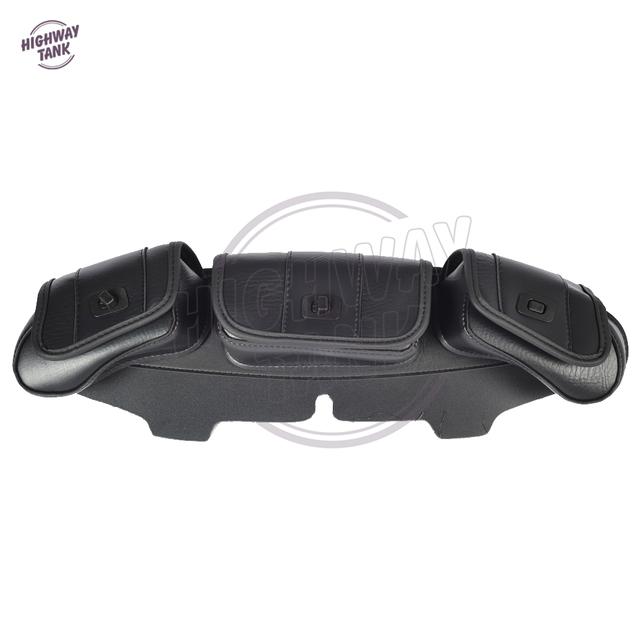 Black Windshield Bag case for Harley Davidson Touring 1996-2013