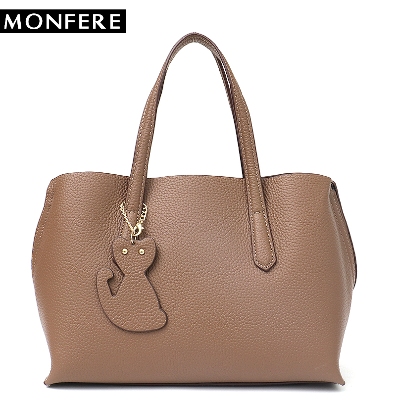 MONFERE Women's Handbags Ladies' Genuine Leather Handbag Bag Cowhide Bucket Shoulder Bag Female Pillow Cross body Bags For Woman forudesigns candy color small handle bag woman casual handbag for girls luxury woman s leather handbags ladies cross body bolsas