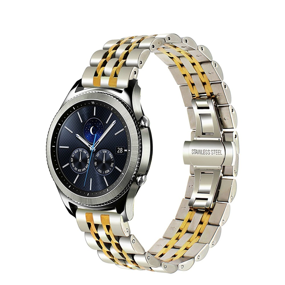 22mm Stainless steel strap for Samsung Gear S3 Frontier/Classic R760/R770 band Smart watch bracelet wrist replacement belt все цены