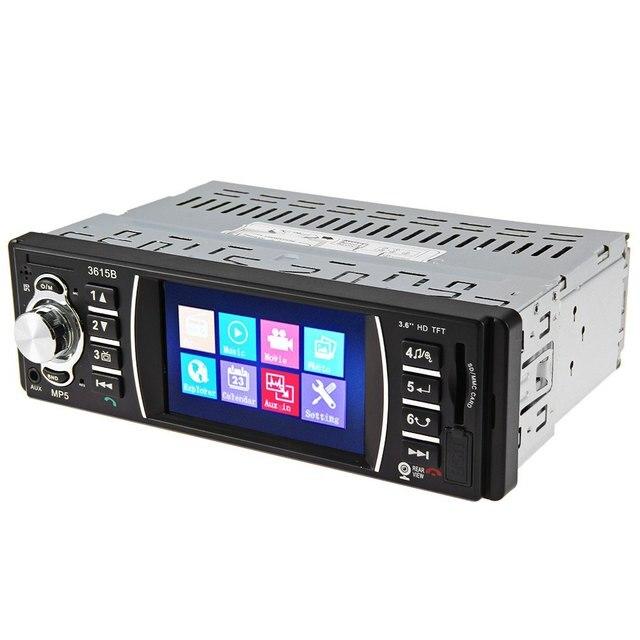 Автомобиль mp5 плеер Bluetooth Авто Видео Дистанционного Управления 3.6 дюймов TFT Экран Камера Заднего вида Автомобиля Аудио Стерео Видео MP5 FM USB SD MMC