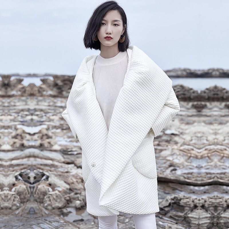 Veste Tendance Femelle Le Revers 2018 Mode Bas Femmes Survêtement Nouvelle Manteau Profil Stand Vers Européens Designers De Longue D'hiver HTx1q6wFxn
