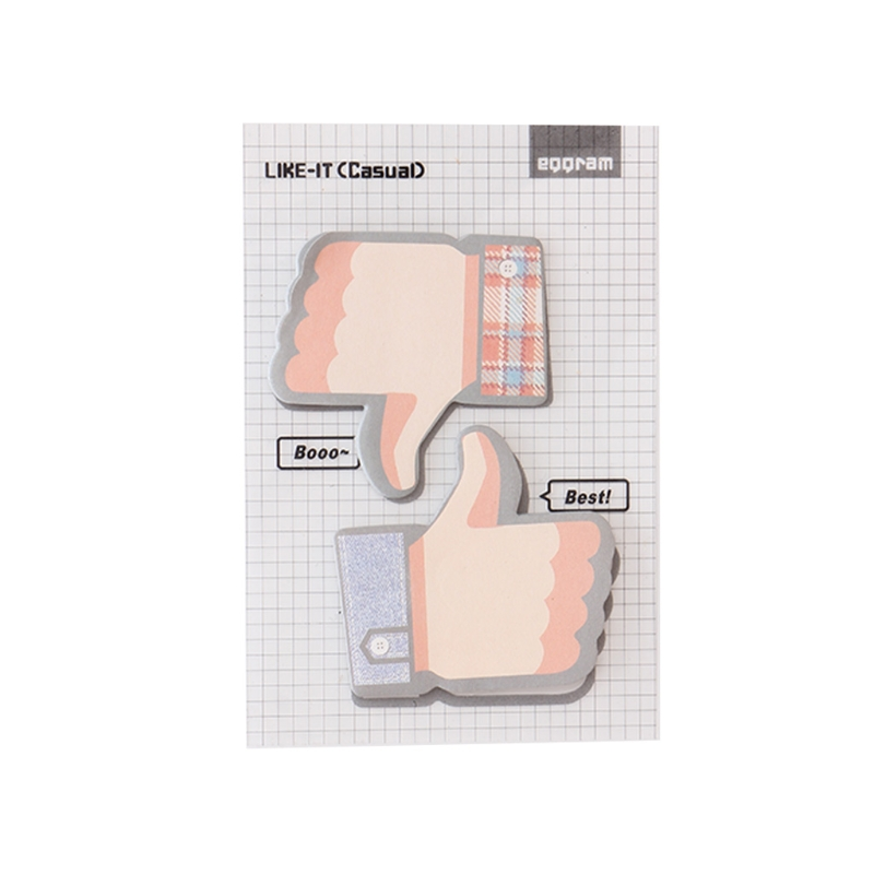 1Pc Thumbs Up Memo Pad Vintage Sticky Notes Bookmark Office School Supplies in Memo Pads from Office School Supplies