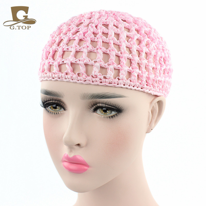 New fashion Women Ladies Rayon Small Thick Hair Net Handmade Crochet Design Snood Hair Accessory free shipping