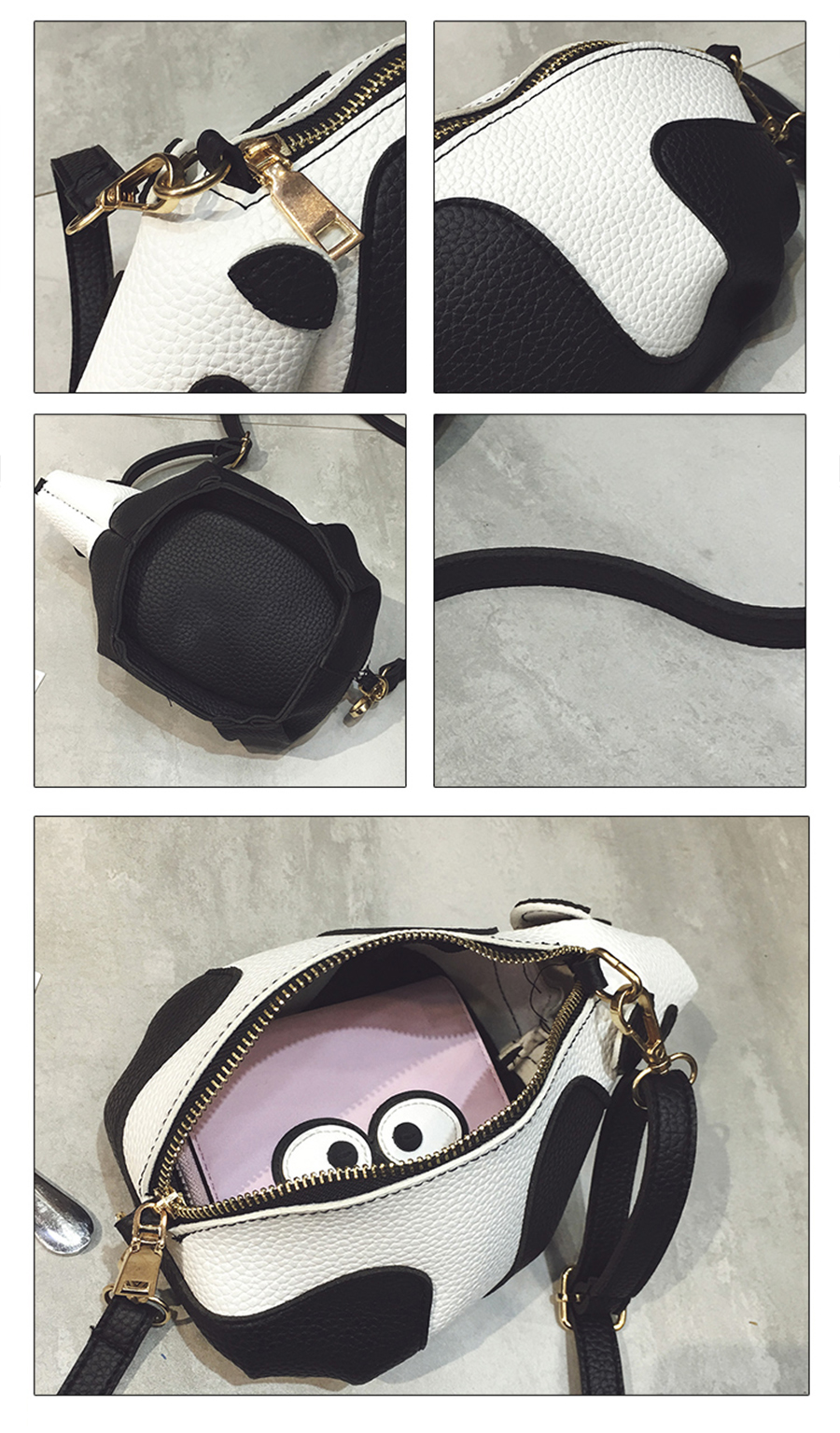a7e6307bc188 Funny Design Cartoon New Cute Panda Shoulder Bag Purse Handbags Women  Crossbody Messenger Bags for Girls Phone Bag Animal Crossbody Bags Ladies  Lovely PU ...
