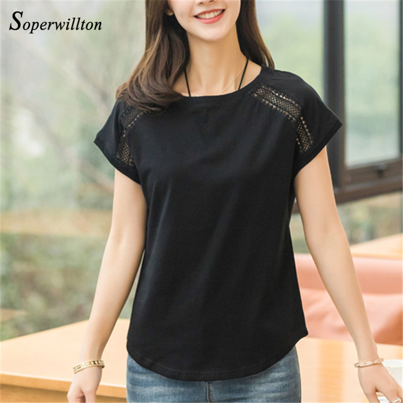 Cotton Summer Blouses Lace Batwing Sleeve Shirts For Womens Tops Shirts Plus Size Women Clothing Korean 2018 Blusas Female #B65 2