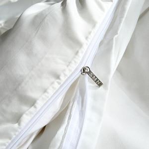 Image 4 - LOVINSUNSHINE ensembles de literie de luxe avec housse de couette et fleurs en soie, pour taille King Size, couleurs unies, AB #4