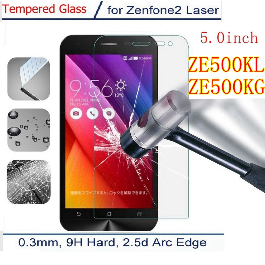 Premium Tempered Glass For ASUS_Z00ED Asus Zenfone 2 Laser ZE500KL Ze500kg Ze 500 Kl Kg Z00RD ME500KL Screen Protector Film Case