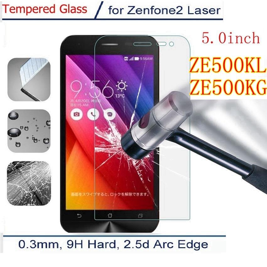 הדגם של asus z00ed - Premium Tempered Glass For ASUS_Z00ED Asus Zenfone 2 Laser ZE500KL ze500kg ze 500 kl kg Z00RD ME500KL Screen Protector Film Case