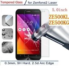 Vidrio Templado Premium para Asus Zenfone 2, láser ZE500KL ze500kg ze 500 kl kg Z00RD ME500KL, funda con película protectora de pantalla