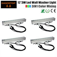 4pcs Lot 12x3W3in1 Led Wall Washer Light IP65 Led Flood Light For Outdoor DMX 512