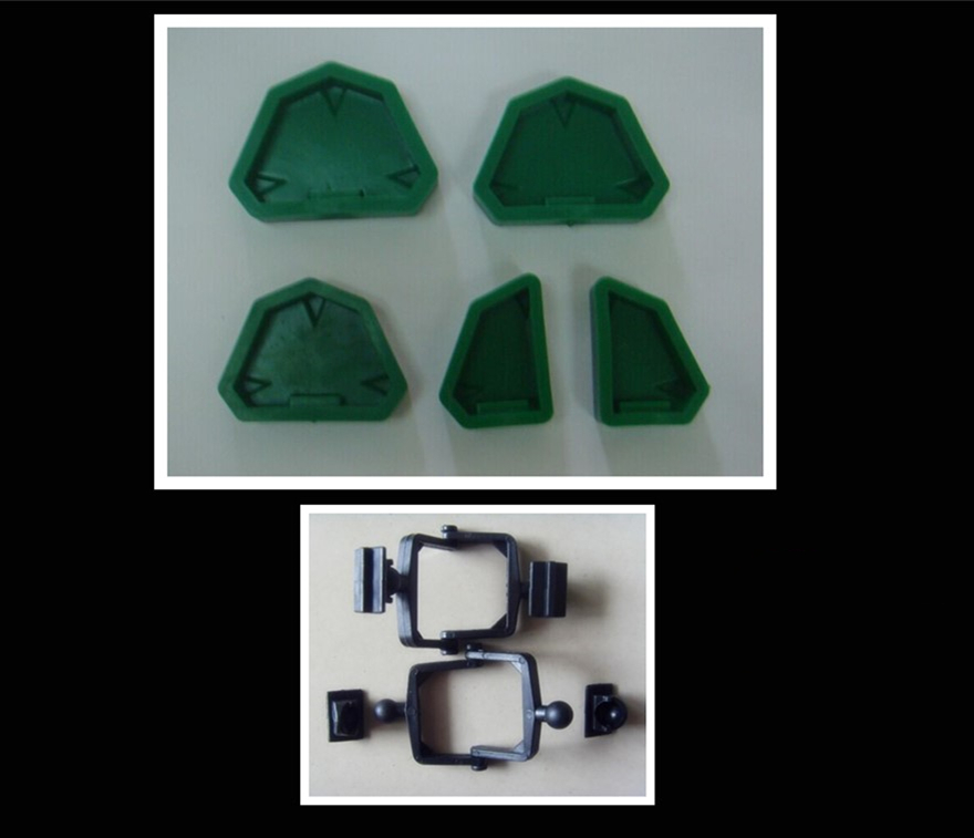 2 Sets Dental Plaster 6 Stars Model Base Moulds with 100Pcs Articulator ,Dental Lab material