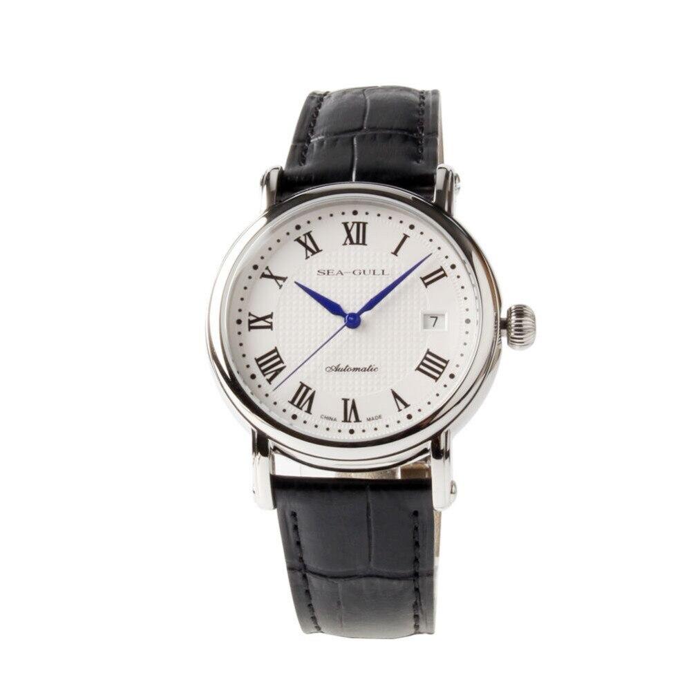 정품 갈매기 로마 숫자 guilloche 양파 크라운 블루 손 전시 뒤로 자동 남자 시계 바다 갈매기 819.368-에서기계식 시계부터 시계 의  그룹 1