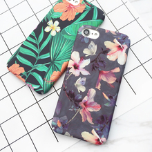LOVECOM Tropical Banana Leaf Flowers Cherry Plants Design Phone Case For IPhone 5 5S 6 6S 7 7 Plus Hard Scrub Phone Bags & Case