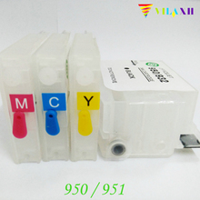 For HP 950 951 Empty Refillable Ink Cartridges For HP Pro 8100 8600 8620 8610 8630 8680 8615 8625 8640 8660 8616 Printer картридж с чернилами yotat hp 8100 8600 8610 8620 8630 8640 8660 8615 8625 251dw 276dw for hp 950 printhead