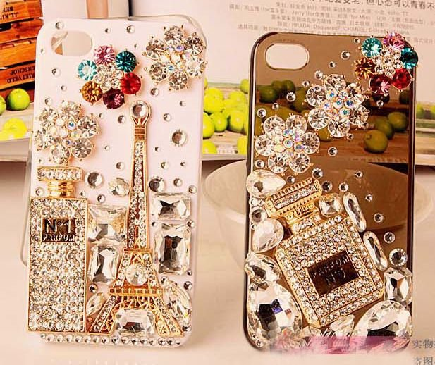 2pcs/lot Alloy Iced Out Flat Back  rhinestone perfume bottle for DIY fashion accessories