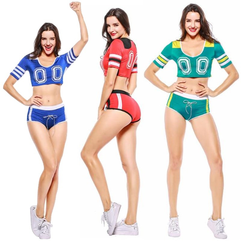 12sets Women&Girl Cheerleading Uniforms Basketball Football Game National&Club Team Fitness Sport Tops(Jerseys)+Boxers(Shorts)