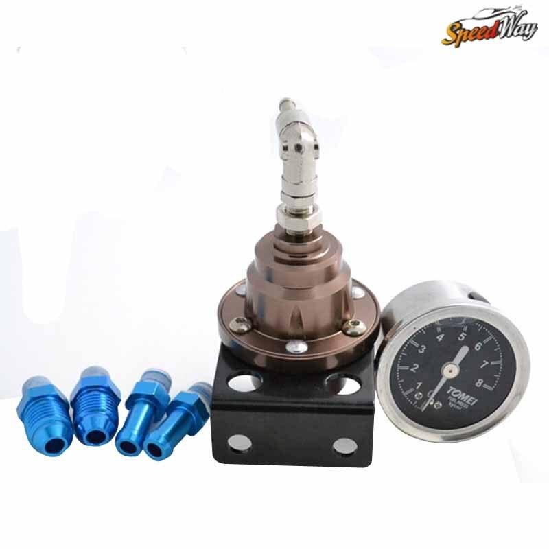Speed Way Tomei Adjustable Fuel Pressure Regulator With Gauge Type-S Fuel Regulator
