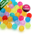 """4mm 200pcs/str Transparent Glass Crystal PandaHall Loose Bead Strand Frosted Round Blue Black Red Yellow Purple Green 4mm 31.4"""""""