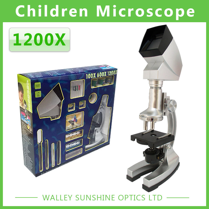 ФОТО 10X-20X Zoom Illuminated 1200X Kids biological microscope with LED light and Projector  birthday gift for Children
