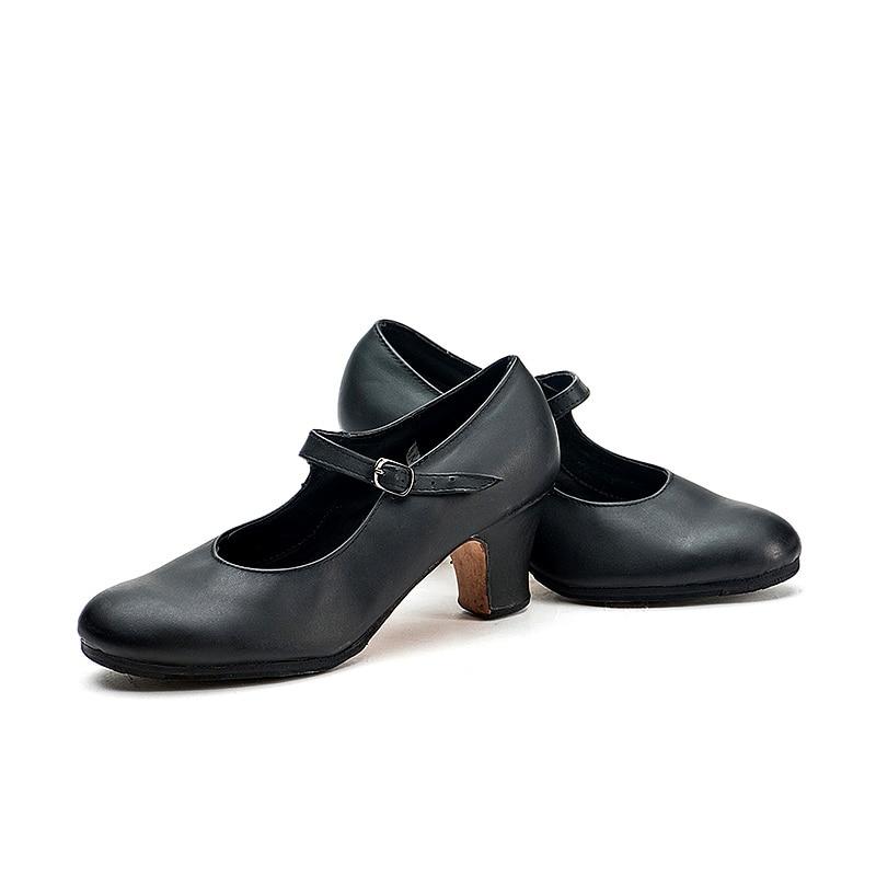 Image 5 - Sansha Professional Flamenco Character Dance Shoes 6CM Middle  High Heel For Women Ladies Black Dancing Shoes FL1CL FL1LSblack dance  shoesdance shoescharacter dance shoes
