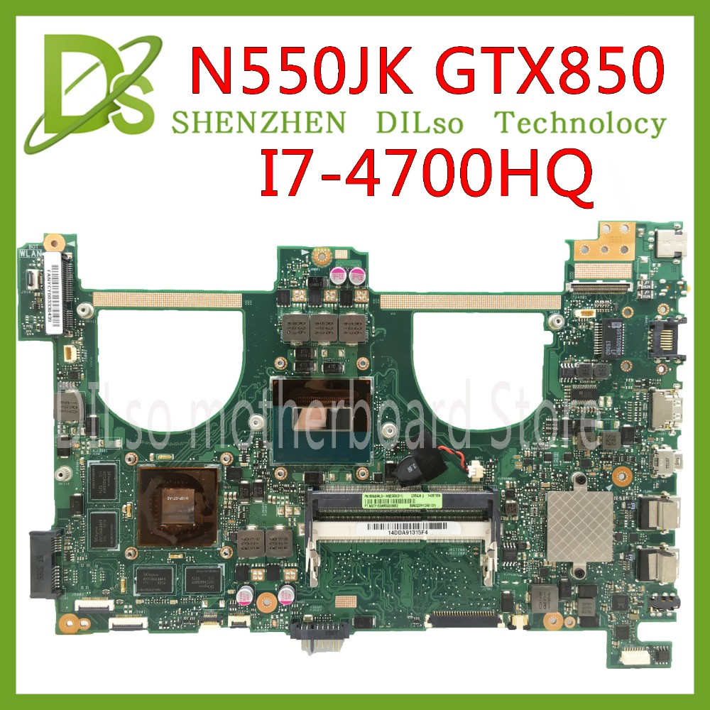 KEFU N550JK For ASUS N550JK n550JV N550JX Laptop Motherboard i7 4700HQ CPU PM GT850 2GB/4GB Video memory Mainboard