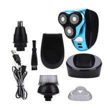 3 In 1 USB Rechargeable Electric Men Shaver Triple Floating